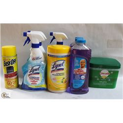 FLAT OF ASSORTED CLEANING PRODUCTS