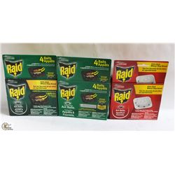 LOT OF ASSORTED RAID ANT KILLER
