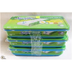 3 PACKS OF SWIFFER SWEEPER WET MOPPING CLOTHS
