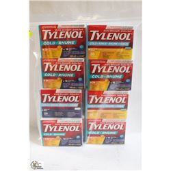 BAG OF ASSORTED TYLENOL COLD