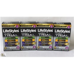 4 BOXES OF LIFESTYLE ULTRA TRIAL CONDOMS