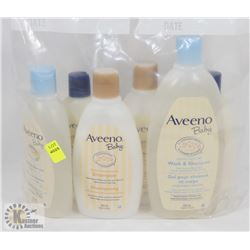 BAG OF ASSORTED AVEENO BABY CLEANERS