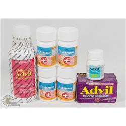 BAG OF ASSORTED ADVIL AND ASPIRIN