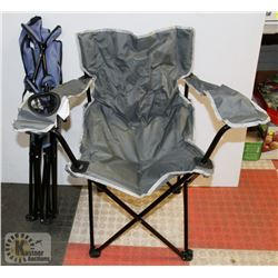 LOT OF 2 FOLDING CHAIRS