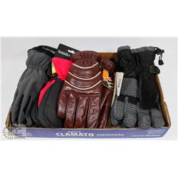 FLAT OF ASSORTED WINTER GLOVES