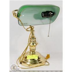 BRASS & GLASS DESK LAMP