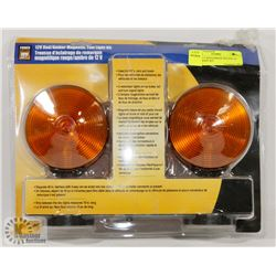 NEW 12 V RED/AMBER MAGNETIC TOW LIGHT KIT