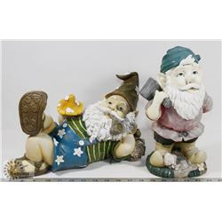 PAIR OF GARDEN GNOMES