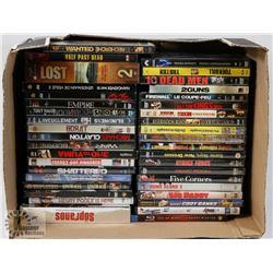 FLAT OF DVD'S INCLUDES 300, BORAT, SOPRANOS