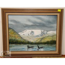 FRAMED ORIGINAL OIL ON CANVAS PAINTING