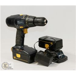 MASTERCRAFT 18 VOLT DRILL WITH CHARGER