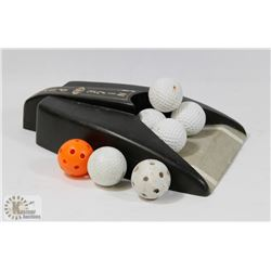 PRACTICE PUTTER AND GOLF BALLS