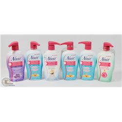 BAG OF ASSORTED NAIR HAIR REMOVAL ITEMS