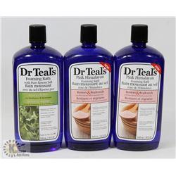 BAG OF ASSORTED DR TEALS FOAMING BATH