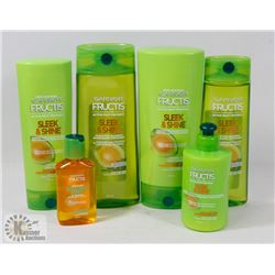 BAG OF ASSORTED GARNIER FRUCTIS HAIR PRODUCTS