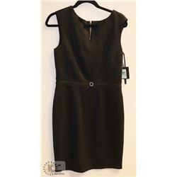 NEW ELLEN TRACY BLACK SLEEVELESS DRESS -