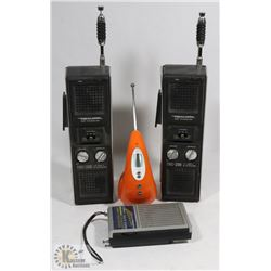 PAIR OF REALISTIC GRS TRANSCEIVERS - 3 CHANNEL W/
