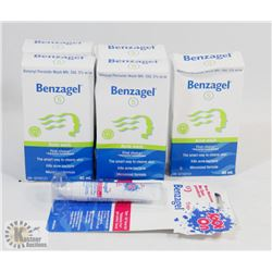 BAG OF ASSORTED BENZAGEL ACNE TREATMENTS