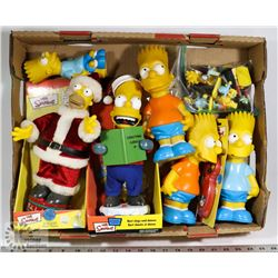 FLAT OF SIMPSON COLLECTABLE FIGURES