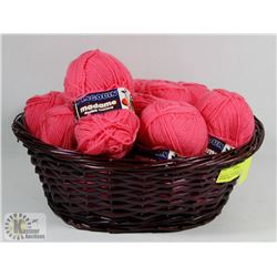 FLAT OF 12 BALLS OF PINGOUIN DOUBLE KNITTING PINK