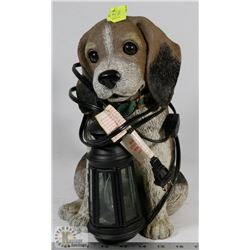 LIGHTED PLUG IN DOG STATUE