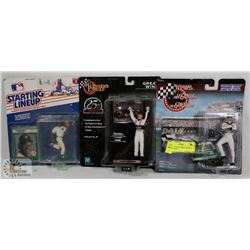 LOT OF 3 COLLECTIBLE FIGURES INCL  2 DALE