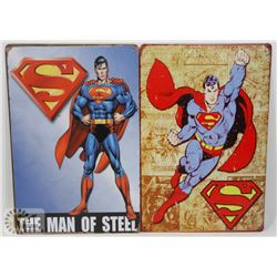 "LOT OF TWO NEW! 12"" X 8"" METAL SIGNS"