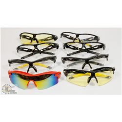 8 NEW! PAIRS OF SPORTS SUNGLASSES