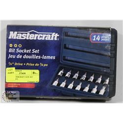 NEW MASTERCRAFT 14-PC BIT SOCKET SET,