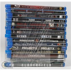 BUNDLE OF 15 BLU-RAY DVD MOVIES INCL.