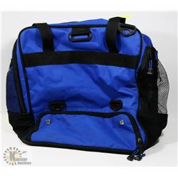 BLUE CANVAS CARRY-ON BAG/SPORTS BAG -
