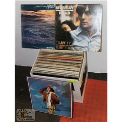 BOX OF RECORDS INCLUDES BOZZ SKAGGS, EDDIE MONEY,