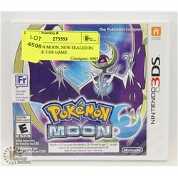 POKÉMON MOON, NEW SEALED IN PACKAGE 3 DS GAME
