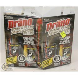 BAG OF DRANO SNAKE PLUS DRAIN CLEANER