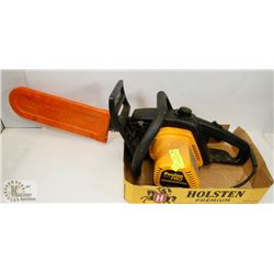 ELECTRIC POULAN PRO CHAINSAW, NEW CHAIN WITH GUARD