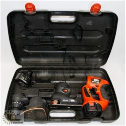 BLACK AND DECKER ELECTRIC DRILL WITH ATTACHMENTS