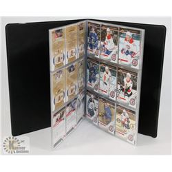BOOK OF VARIOUS UPPERDECK HOCKEY CARDS.