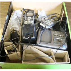 BOX OF ASSORTED UNIDEN PORTABLE TELEPHONES & BASES