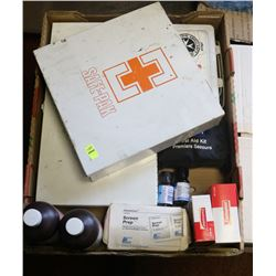 LOT OF FIRST AID KITS AND ACCESSORIES