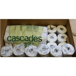 LARGE BOX OF COMMERCIAL TOILET PAPER ROLLS