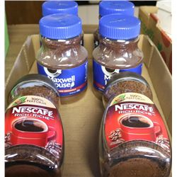 6 BOTTLES OF NESCAFE & MAXWELL HOUSE INSTANT COFFEE