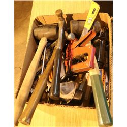 FLAT OF ASSORTED HAND TOOLS