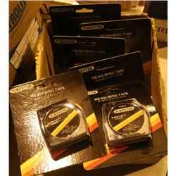 BOX OF NEW FORESTERS MEASURING TAPES, 3.6M/12FT