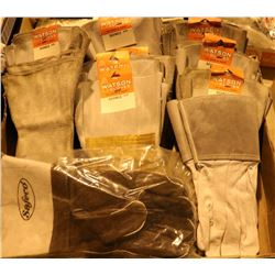 BOX OF ASSORTED WELDING GLOVES