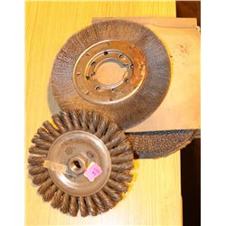 LOT OF 3 METAL BUFFING WHEELS