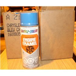 11 CANS OF SPRAY ENGINE ENAMEL