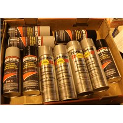 FLAT OF SPECIALTY ENAMEL FINISH SPRAY PAINT