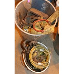 2 CONTAINERS WITH CHAIN, SLINGS & MORE