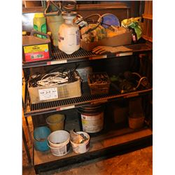 METAL SHOP SHELF WITH CONTENTS, 48 X 54 X 26