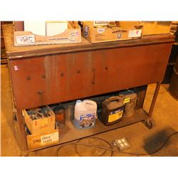METAL ROLLING PARTS CLEANING CABINET WITH LID